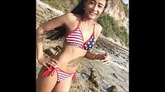Sexy skinny bikini girl will make you cum