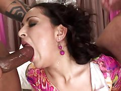Brunette likes sex with two guy.mp4