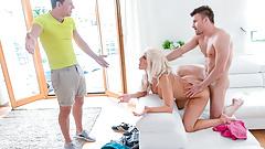 LETSDOEIT - Kinky Hot MILF Fucks With Stepson And His Friend