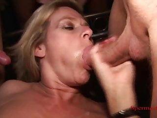 Cunt Pierced Blonde Gets Multiple Cumshots - P2