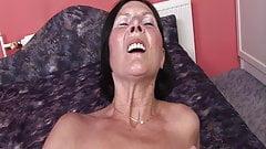 60+ Grandma enjoys dildo and young man's cock