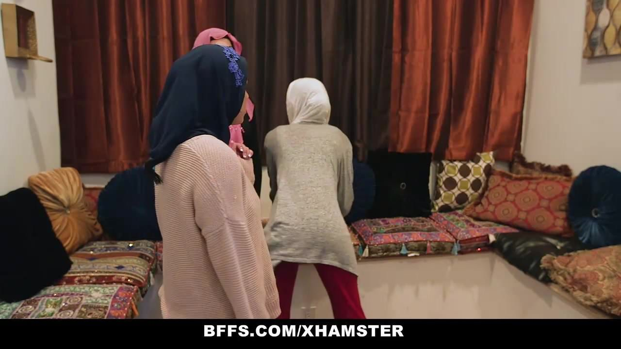 Bffs shy inexperienced poonjab girls fuck in their hijabs 2