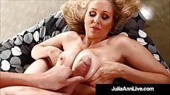 Titty Fucked Cougar Julia Ann Gets Lubed Cock Between Boobs!
