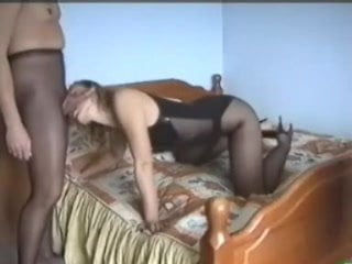 Sex Russian couples in pantyhose! Amateur!
