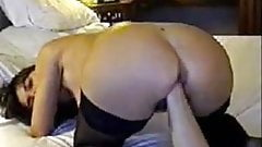 Pussy Fist & HUGE Dildo in Ass