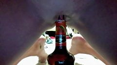 Young Amateur Rubs Pussy and Inserts Bottle
