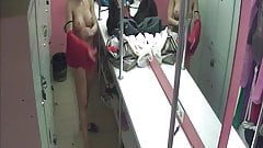 Hidden camera, Striptease in the locker room