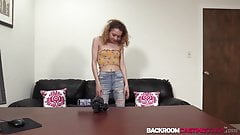 Petite teen Summer creampied after screwing at porn casting