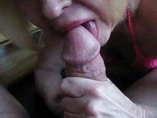 Nice Granny sucking cock