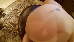 Mature wife Karen anal creampie and cleanup