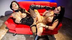 Spizoo - Jessica Jaymes & Mackenzee Pierce lesbian fuck fest
