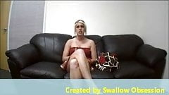 first time swallow in porncasting
