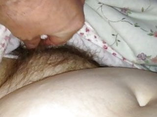 sneak peak of her hairy pussy before she wakes