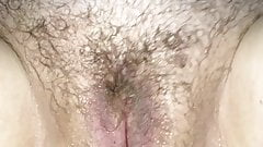 Playtime with Em Part 4 ... I piss on her hairy pussy