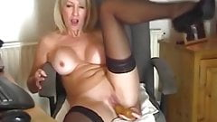Check My MILF Busty shaved mature amateur playing with toy