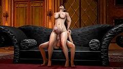 3D shemale orgie