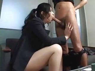 Asian secretary ass - Asian secretary rides her bosses-by packmans