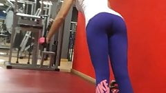 Amazing ass in gym-See Thru