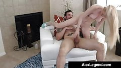 Blonde Cutie Iris Rose Takes A Huge French Cock!