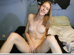 Small Breasted Blonde Masturbating