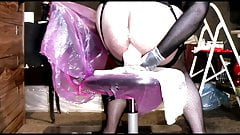 Anally Ruined by Huge Dildo 1m
