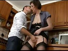 British Milf  Fucks Sons Friend