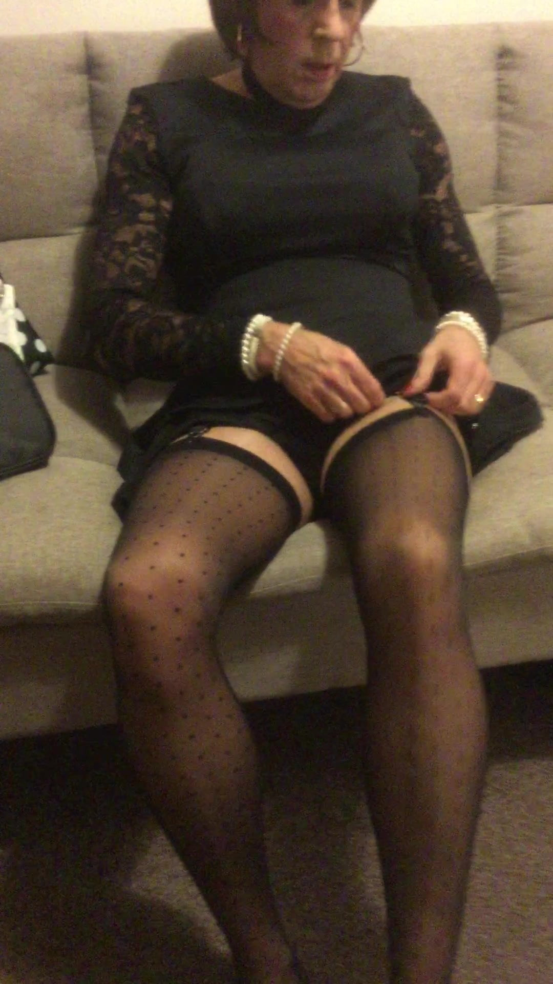 Stockings dating tranny