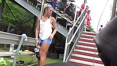 Spandex Track Teens 20 (Blond with Solid Ass and Legs)