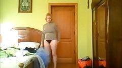 Morning time. Hidden cam in bedroom of my nice mom