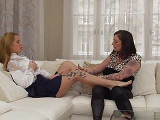 Modern mom Adrienne licks and fuck sweet daughter
