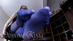 Nice blue Stocking feet