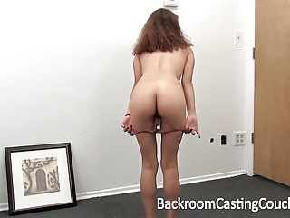 Preview 2 of Cute Teen Anal Creampie on Casting Couch
