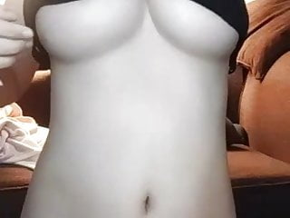 Cute Thai girl shows her nice big tits and body during chat