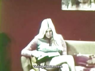 Preview 1 of Lesbians Playing Dirty Sex Games (1960s Vintage)