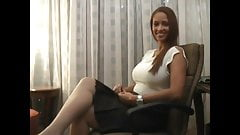 Ebony Tickled In White Pantyhose