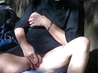 Masturbate in the woods