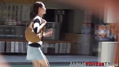 Voyeur outdoor video of young Japanese girls pissing's Thumb