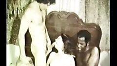 Vintage Trio Withe Girl Black Cock