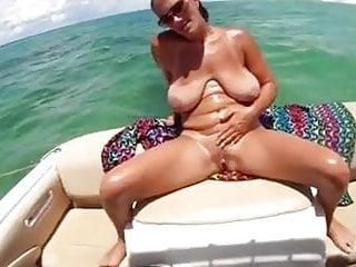 Big Saggy Boobs Mature Milf On Boat