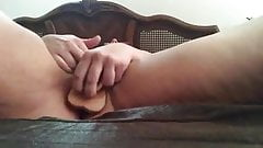 Horny BBW Fucks Herself Well