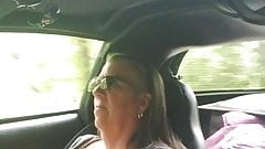Flashing while driving down the road