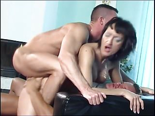 Susana De Garcia - fuck two men on sofa