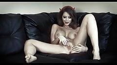 SHE DEVIL - big tits beauty strips & wanks