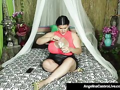 Cuban BBW Angelina Castro Sucks A Stranger's Cock To Get Cum