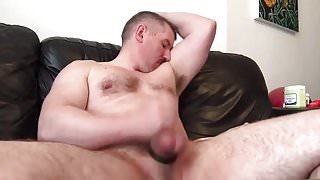 PopperBear Jerks Off Uncut Cock and Cums