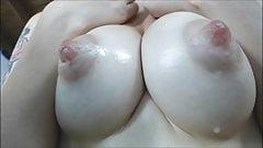 Perky Puffy Nipples Dripping Milk