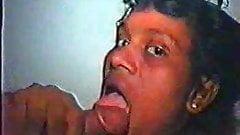 Vintage Sri Lankan prostitute handles 2 men