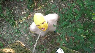 Slave Outdoor Piss and Fuck