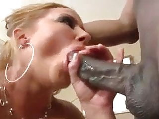 Horny Milf deepthroat sucking big black cock pov