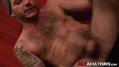 Alt stud rouses his cock up before having a stroke